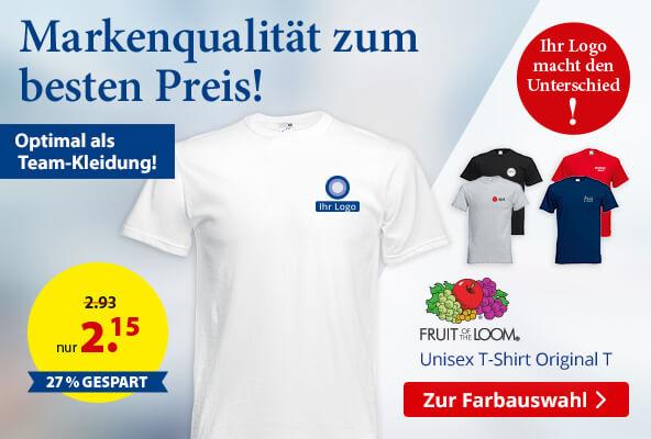 FRUIT OF THE LOOM® Unisex T-Shirt Original T – BETTMER - Erfolgreiche Werbeartikel