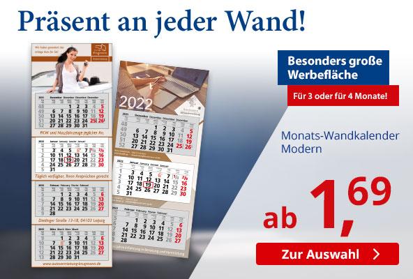 3-Monats-Wandkalender Modern 2022 – BETTMER - Erfolgreiche Werbeartikel
