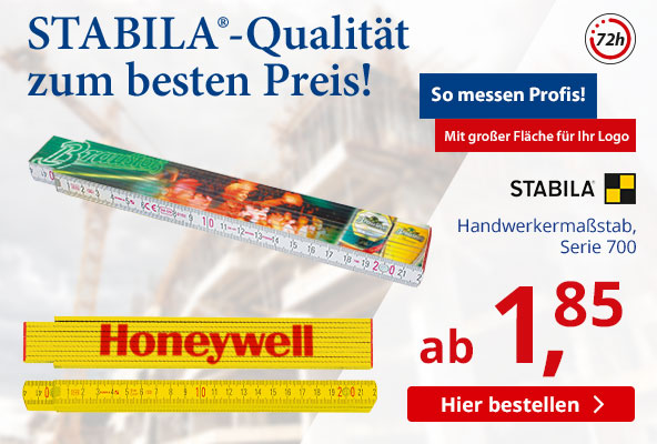 STABILA Handwerkermassstab Serie 700 bei BETTMER - Erfolgreiche Werbeartikel