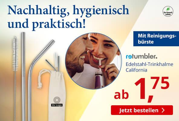 Edelstahl-Trinkhalme California bei – BETTMER - Erfolgreiche Werbeartikel
