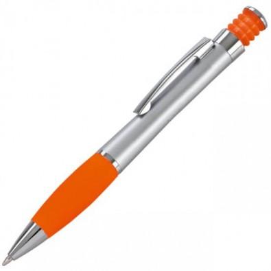 LANCE Druckkugelschreiber Nevada, Silber/Orange