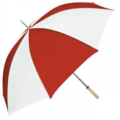 Portier-Stockschirm, Rot/Weiß