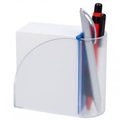 Zettelbox Pintu, Blau/Transparent
