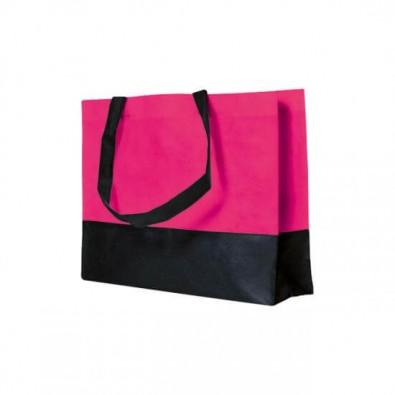 Joytex® Vlies-Umhängetasche, Pink/Schwarz