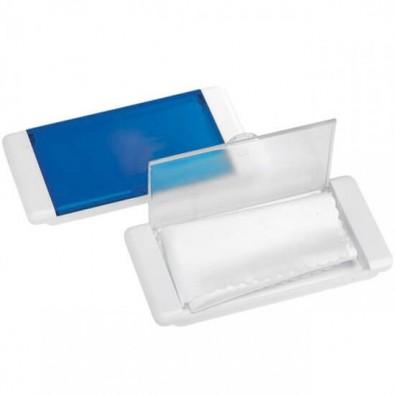 Microfasertuch in Box, Weiß/Transparent