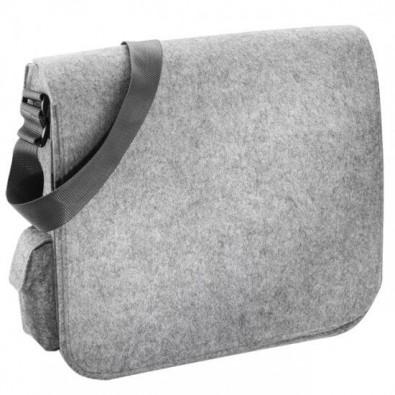 Shoulderbag aus Filz Hellgrau
