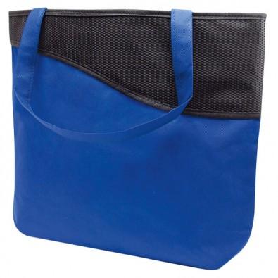 einkaufstasche xl mit rei verschluss knobs blau schwarz. Black Bedroom Furniture Sets. Home Design Ideas