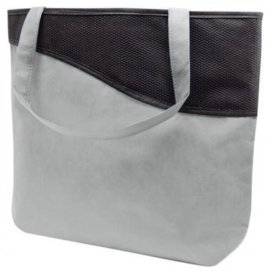 einkaufstasche xl mit rei verschluss knobs grau schwarz. Black Bedroom Furniture Sets. Home Design Ideas