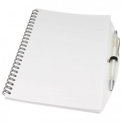 Notizbuch Busy mit Kugelschreiber, DIN A5, Weiß