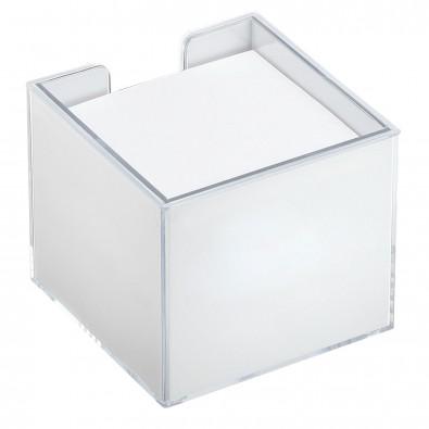 Zettelbox mit Rundumdruck, quadratisch