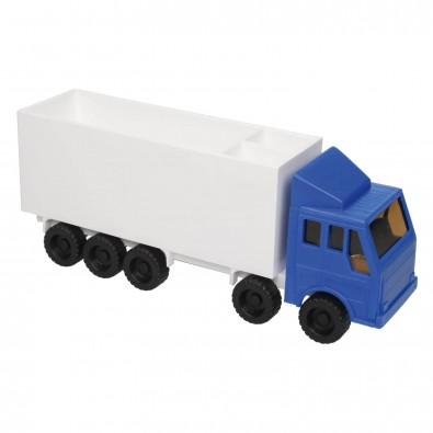 Zettelbox mit Stifteköcher LKW, Blau/Weiß