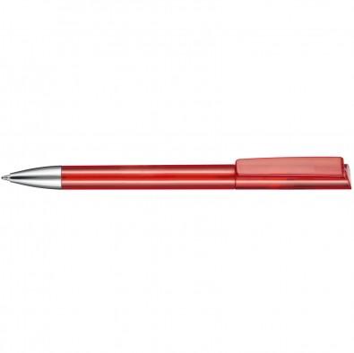Drehkugelschreiber Glory, Rot/Transparent