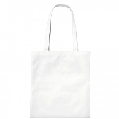 Vliestasche Textile mit langen Henkeln, Weiß