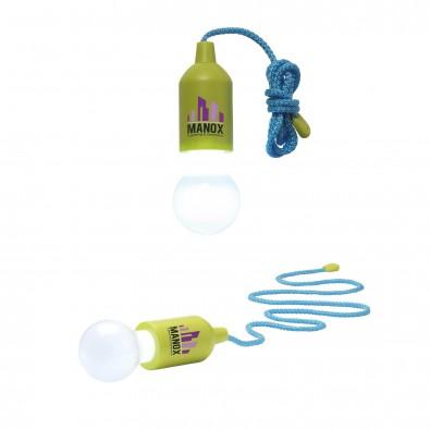 LED-Lampe Lightbulb, Apfelgrün (blaue Schnur)