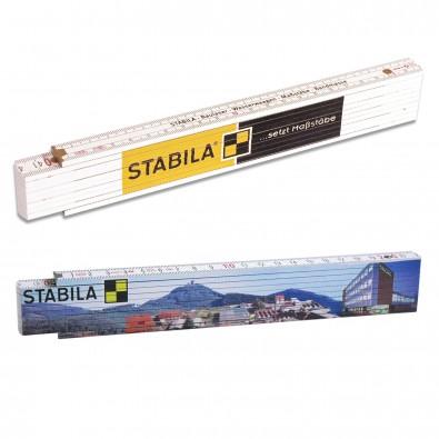 Original Stabila Handwerkermaßstab 400er Serie, Weiß