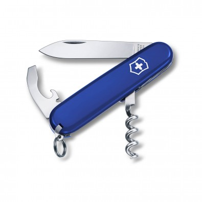 Original Victorinox Taschenmesser, Waiter, 9 Funktionen Blau