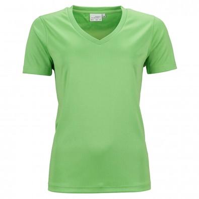 Original James  Nicholson Damen Funktions T-Shirt Active, Lime-Green, L