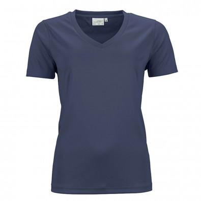 Original James  Nicholson Damen Funktions T-Shirt Active, Navy, XS