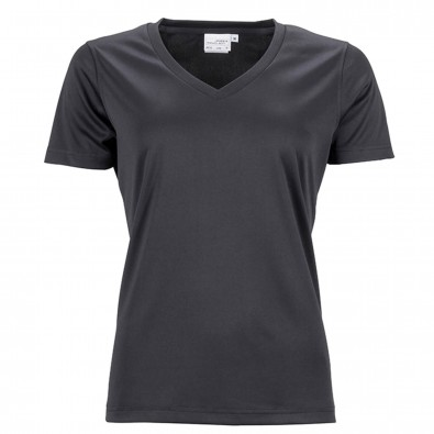 Original James  Nicholson Damen Funktions T-Shirt Active, Black, XS