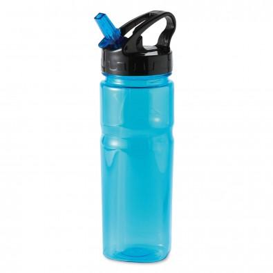 Trinkflasche mit Trinkhalm Colour Blau
