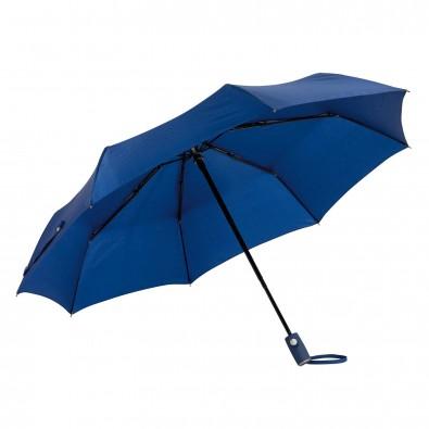 Automatik Windproof Taschenschirm mit farbigem Griff, Marineblau