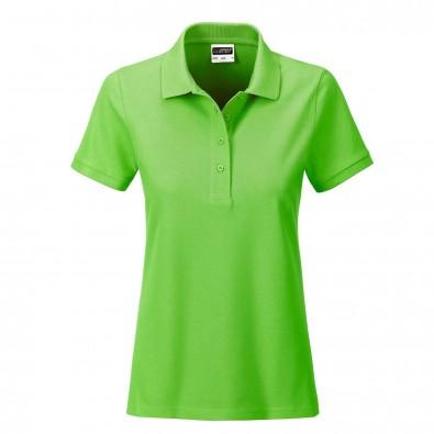 James  Nicholson Basic Polo Bio BW, Lady, Lime-Green, S