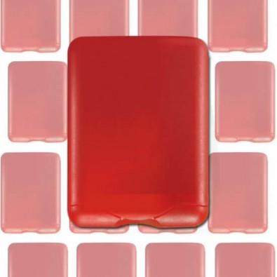 Werbe-Set: 60 Teile VitaCard Pflaster-Set, Rot/Frosted