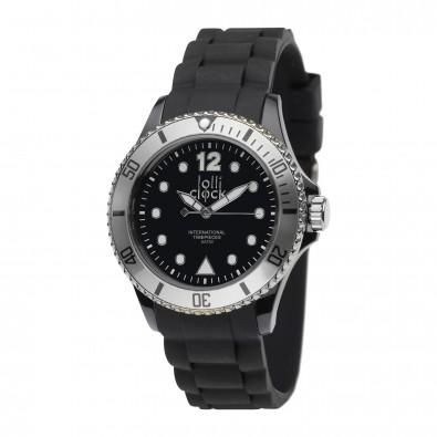 Armbanduhr LOLLICLOCK XVII, schwarz/silber
