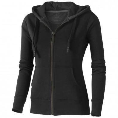 Arora Kapuzensweatjacke für Damen, schwarz, L