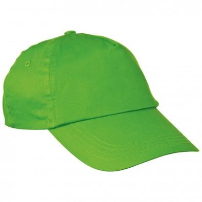 AZO-freie 5 Panel Baumwoll-Baseball-Cap, apfelgrün