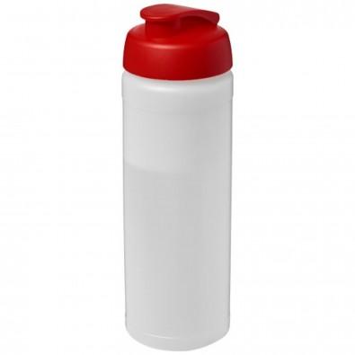Baseline® Plus 750 ml Flasche mit Klappdeckel, transparent,rot