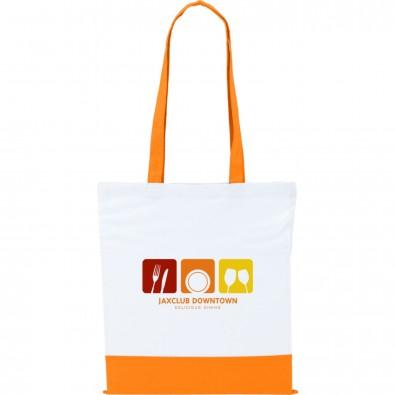 Baumwolltasche Two Colour , weiß/orange