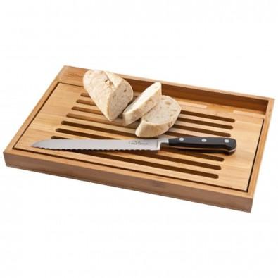 Bistro Schneidbrett mit Brotmesser, holz