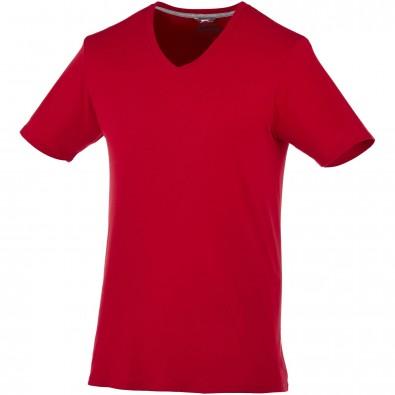 Bosey – T-Shirt mit V-Ausschnitt für Herren, dunkelrot, XXL