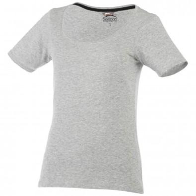 Bosey T-Shirt mit weitem Rundhalsausschnitt für Damen, sportgrau, M