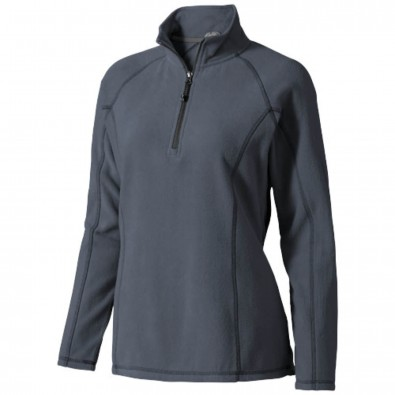 Bowlen Damen Langarm Fleeceshirt mit 1/4 Reißverschluss Storm Grey | XS