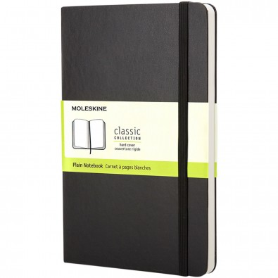 Moleskine Classic Hardcover Notizbuch Taschenformat – blanko, schwarz