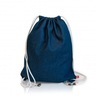 Denim-Baumwollrucksack , denim blau