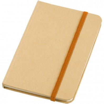 Dictum DIN A6 Notizbuch, natur,orange
