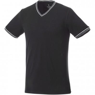 ELEVATE Herren T-Shirt Elbert Piqué, schwarz,grau meliert,weiss, XL
