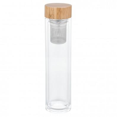 Glasflasche mit Teesieb REFLECTS-SLEDGE