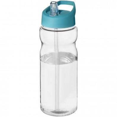 H2O Base® 650 ml Sportflasche mit Ausgussdeckel, transparent,aquablau