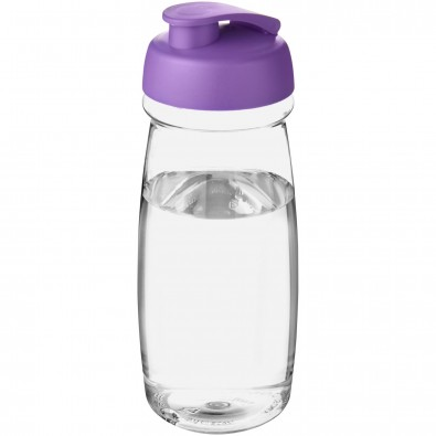 H2O Pulse® 600 ml Sportflasche mit Klappdeckel, transparent,lila