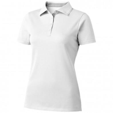 Hacker Damen Poloshirt, weiss,grau, S