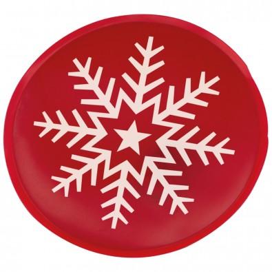 Handwärmer aus PVC Schneeflocke, rot