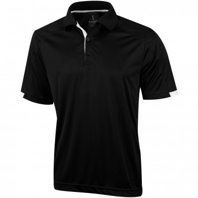 ELEVATE Herren Poloshirt Kiso cool fit, schwarz, XL