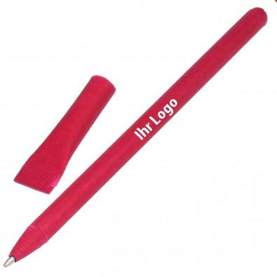 Kugelschreiber aus Papier, rot