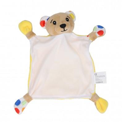 """Kuscheltuch """"Cuddle"""" , Bär, mehrfarbig"""