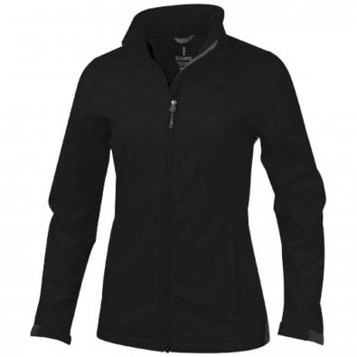 Maxson Damen Softshell Jacke, schwarz, S