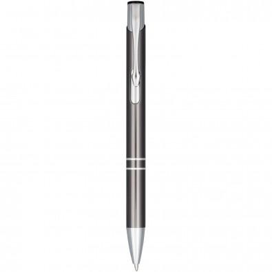 Moneta Druckkugelschreiber aus eloxiertem Aluminium, grau